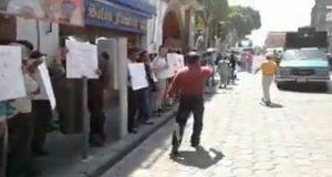 28 de Octubre acusa despojo otra vez en Parque Puebla y se manifiesta