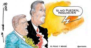 """Caricatura: Meade y el """"piojo"""" Herrera en la misma situación"""