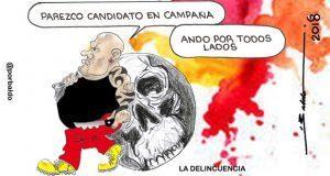 Caricatura: Sin hacer campaña, delincuencia más conocida que candidatos
