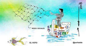 Caricatura: Partidos buscan el voto en redes sociales