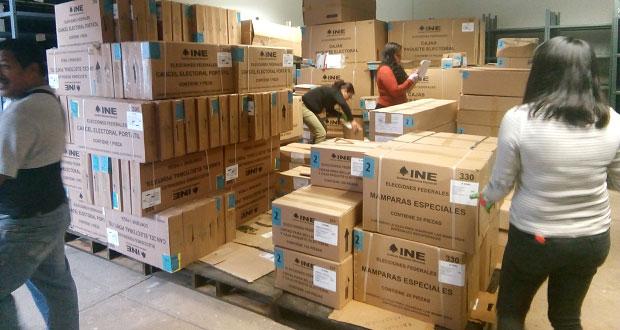 INE en Puebla recibió material electoral para el próximo 1 de julio