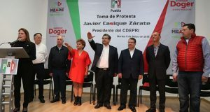 Javier Casique e Isabel Merlo, al frente del PRI de Puebla