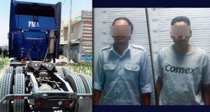 Recuperan tractocamión robado en la México-Puebla