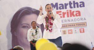 Más pozos en Cuapiaxtla y reforzar seguridad en Cañada: Martha Erika