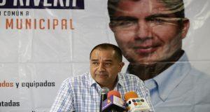 Esta mañana en las instalaciones de la casa de campaña de Eduardo Rivera se presentó a Pablo Montiel como nuevo vocero del candidato.
