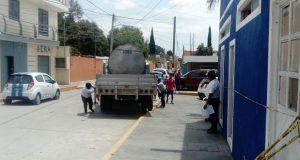 Vecinos de Sanctórum hacen plantón por incumplimiento de obras