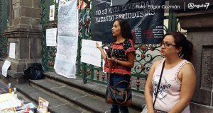 Reporteros poblanos exigen justicia para Juan Carlos Huerta y Javier Valdez