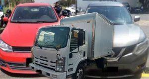 SSP recupera 6 vehículos y detiene a uno por robo de autopartes