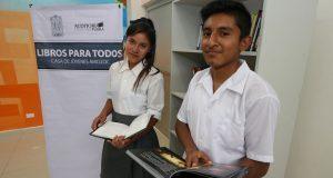 """Donan 500 libros a casas """"Jóvenes en Progreso"""" de Puebla"""