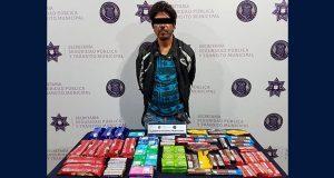 Detienen a hombre por robo a Oxxo en Centro Histórico