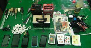 Decomisan armas y droga en Ceresos de Xicotepec y Zacatlán