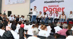 En Xicotepec, Doger promete construir ramal de la México-Tuxpan
