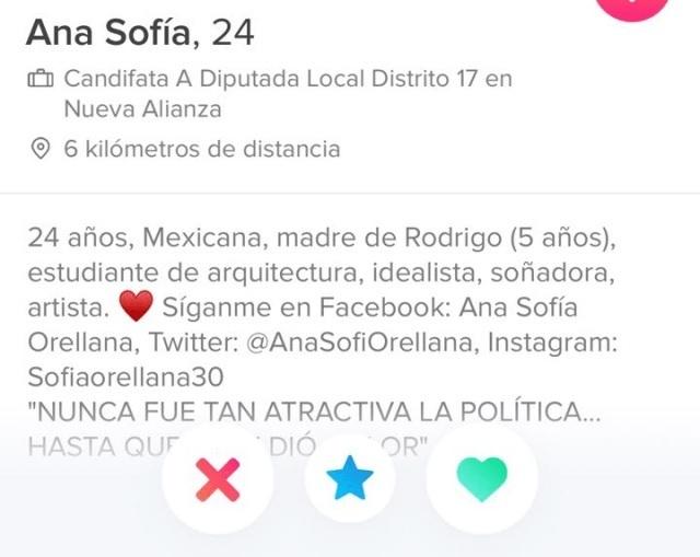 Candidata a diputación en Puebla por NA hace campaña en Tinder