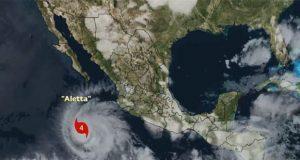 """Huracán """"Aletta"""" sube a categoría 4"""