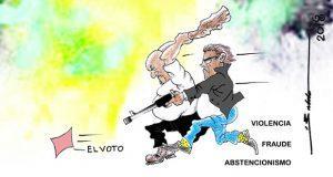 Caricatura: delitos que se generan por el voto