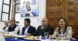 Martha Erika, Rivera y Riestra se reúnen con la Coparmex