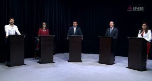 En debate, Natale deja PVEM, declina por de la Sierra y pide votar por Morena