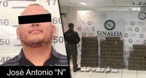 Detienen a integrante del Cártel de Sinaloa con 505 kg de cocaína