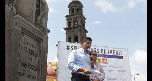 Ofrece Eduardo Rivera aumentar salarios de policías