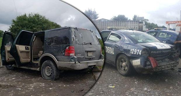 Policías federales y grupo armado se enfrentan en Yehualtepec