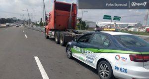 SSP rescata a conductor víctima de asalto en la México-Puebla