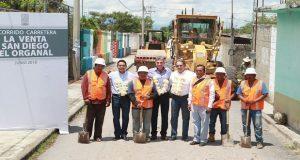 Inicia dignificación de carretera La Venta-Organal