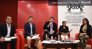 Se exhiben mutuamente candidatos a la alcaldía de Puebla en debate de Ibero