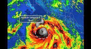 Huracán Bud sube a nivel 3; seguirán lluvias en costa del Pacífico