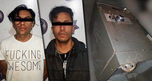 En prisión, 2 por intentar robar caja fuerte en colonia Santa Cruz