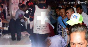 Brigadistas de CPP pelean con los de PAN y Morena en debate; hieren a reportero