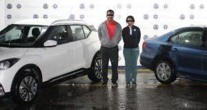 Ssptm recupera auto robado y detiene a 3 probables responsables
