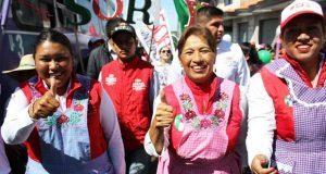 Soraya Córdova y Rosario Sánchez cierran campaña en San Miguel Canoa
