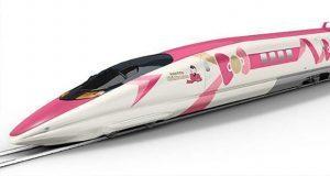 Tren bala inspirado en Hello Kitty conectará Osaka y Fukuoka en Japón