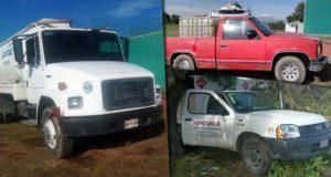 SSP asegura 12 vehículos y 5 mil 300 litros de combustible robado