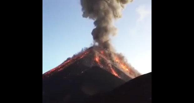 Chiapas, en alerta por erupción de Volcán de Fuego en Guatemala