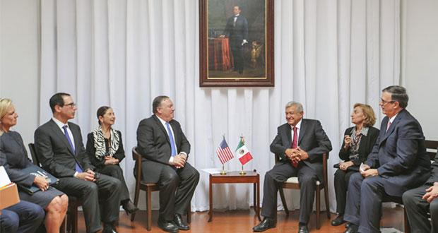 AMLO y Pompeo abordan Tlcan, migración, seguridad y Centroamérica