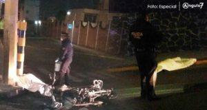 Accidente en moto provoca la muerte de un hombre y mujer en Zavaleta