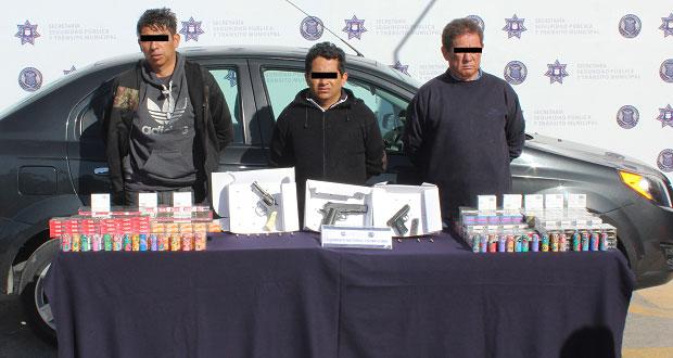 Ssptm y SSP detienen a 3 personas por robo a Farmacia Guadalajara