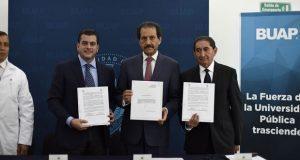 BUAP firma acuerdo para que HUP atienda a derechohabientes del IMSS