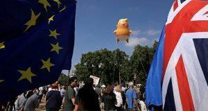 """""""Bebé Trump"""", ícono de protestas contra mandatario en Reino Unido"""