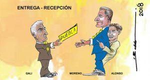 Caricatura: Entrega-recepción en Casa Puebla aún lejana