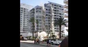 Derrumbe de edificio en Miami, EU, deja un trabajador herido
