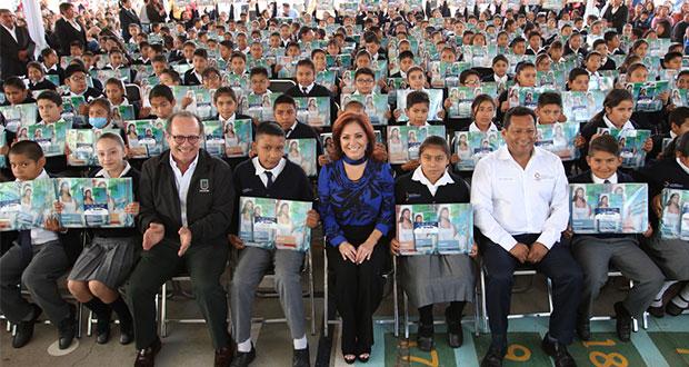 DIF y SEP estatal inician entrega de libros gratuitos en Puebla
