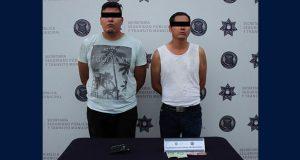 En prisión, 2 presuntos asaltantes a transeúnte detenidos por Ssptm