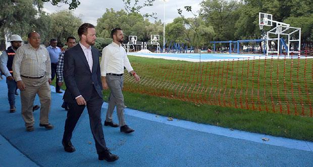 Parque Juárez y Paseo Bravo, con avance del 96% y 95%: Banck