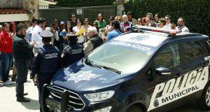 Comuna de Puebla entrega patrulla a vecinos de El Mirador la Calera