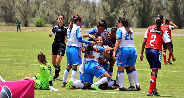 El Puebla Femenil debuta con goleada 4-0 sobre Veracruz