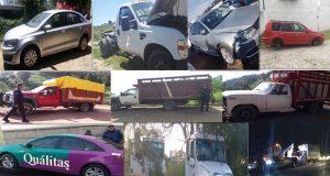 SSP asegura 13 vehículos y 3 personas por transportar huachicol
