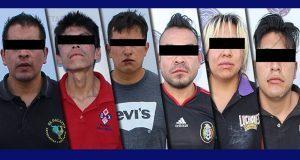 En hechos distintos, detienen a 6 probables asaltantes en Puebla