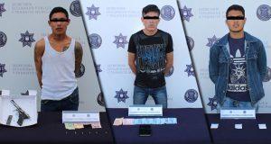En distintas acciones, policías municipales detienen a 3 sujetos